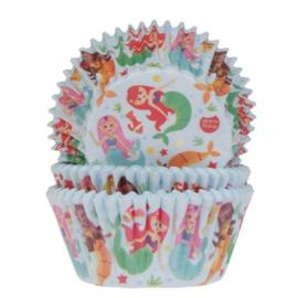 Zeemeermin cupcake vormpjes 50 st.