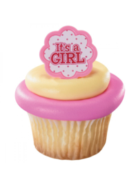 It's a girl cupcake ring 6 st.