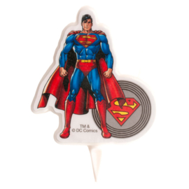 Superman verjaardag taart kaars 7,5 cm.