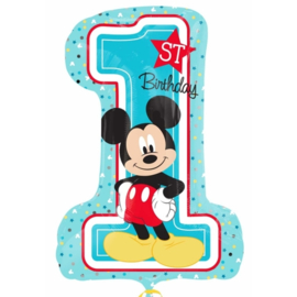 Disney Mickey Mouse 1st Birthday folieballon XL