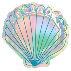 Zeemeermin bordjes Mermaid Wishes 17,7 cm. 8 st.