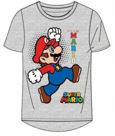 Super Mario Bros t-shirt grijs mt. 104