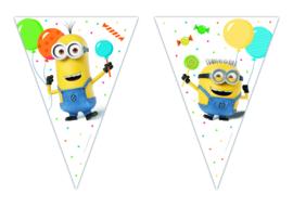 Minions balloons party vlaggenlijn 2,3 mtr.