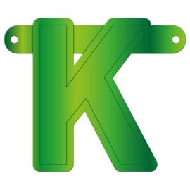 Banner letter K lime groen