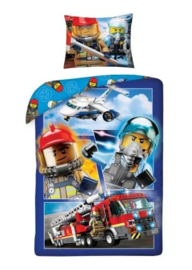 Lego City dekbedovertrek 140 x 200 cm.
