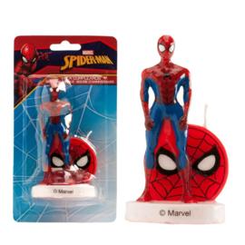 Spiderman 3D verjaardagskaars 9 cm.