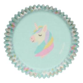 Unicorn cupcake vormpjes party 48 st.