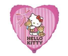 Hello Kitty hart folieballon Best Friend 48 cm.