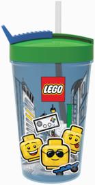 Lego Iconic Boy drinkbeker met rietje 500 ml.