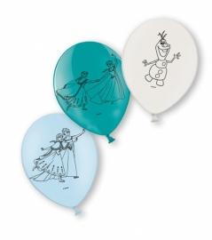 Disney Frozen ballonnen blauw - groen - wit 6 st. ø 22,8 cm.