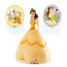 Disney Princess Belle taart decoratie set