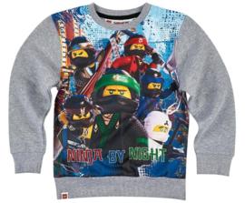 Lego Ninjago sweatshirt grijs mt. 104