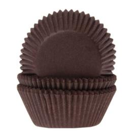 Cupcake vormpjes bruin 50 st.