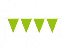 Vlaggenlijn lime groen 10 mtr.