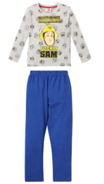 Brandweerman Sam pyjama grijs mt. 92
