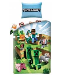 Minecraft dekbedovertrek Battle 140 x 200 cm.