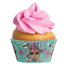 LOL Surprise cupcake vormpjes ø 5 cm. 25 st.