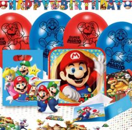 Super Mario Bros feestpakket 60-delig