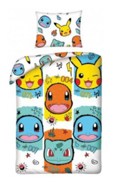 Pokémon dekbedovertrek Faces 140 x 200 cm.