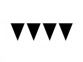 Vlaggenlijn zwart 10 mtr.