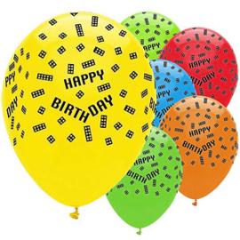 Lego Block party ballonnen ø 30 cm. 6 st.
