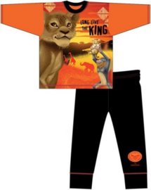 Disney The Lion King pyjama oranje - zwart mt. 110