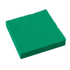 Groene servetten 33 x 33 cm. 20 st.