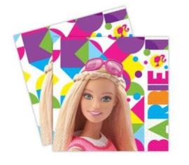 Barbie servetten Sparkle 33 x 33 cm. 20 st.