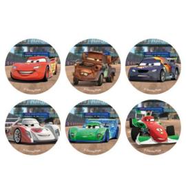 Disney Cars eetbare cupcake decoratie ø 4,5 cm. 12 st.
