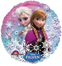 Disney Frozen folieballon Anna en Elsa ø 45 cm.