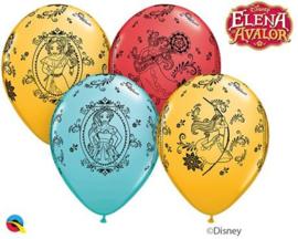 Disney Elena of Avalor ballonnen ø 28 cm. 6 st.