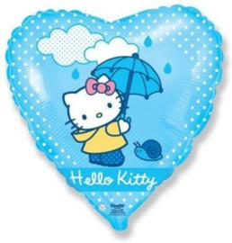 Hello Kitty hart folieballon Umbrella 45 cm.