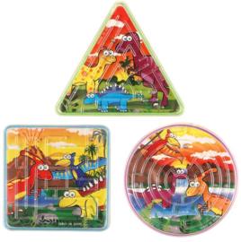 Dinosaurus mini doolhof puzzel p/stuk