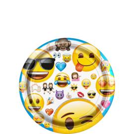 Emoji - Smiley gebakbordjes ø 17,1 cm. 8 st.