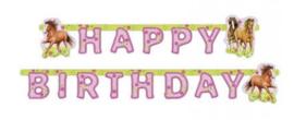 Paarden slinger happy birthday 1,8 mtr.