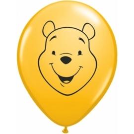 Disney Winnie de Poeh face ballonnen geel ø 12 cm. 10 st.