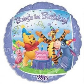 Disney Winnie de Poeh Baby's 1st Birthday folieballon ø 43 cm.