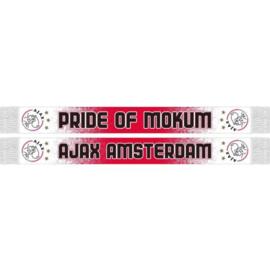 Ajax sjaal rood wit gespikkeld
