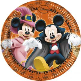 Disney Mickey Halloween gebakbordjes ø 19,5 cm. 8 st.