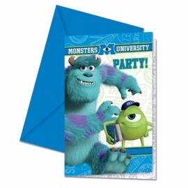 Disney Monsters University uitnodigingen 6 st.