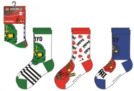 Lego Ninjago sokken 3 paar A mt. 23-26