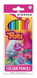 Trolls kleurpotloden 12 st.