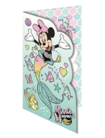 Disney Minnie Mouse wenskaart Mermaid (blanco)