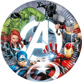 Avengers bordjes Fight ø 23 cm. 8 st.
