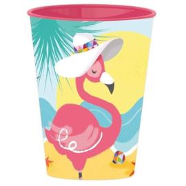 Flamingo drinkbeker 260 ml.