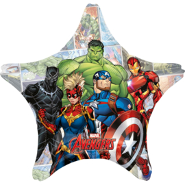 Avengers Power ster folieballon XL 71 cm.