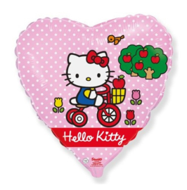 Hello Kitty hart folieballon Cycle 45 cm.