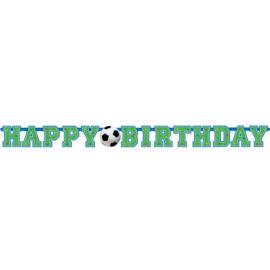 Voetbal slinger happy birthday 1,35 mtr.