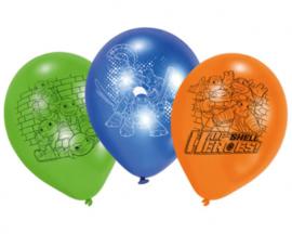 Ninja Turtles ballonnen party ø 22,8 cm. 6 st.
