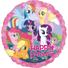 My Little Pony folieballon happy birthday ø 43 cm.